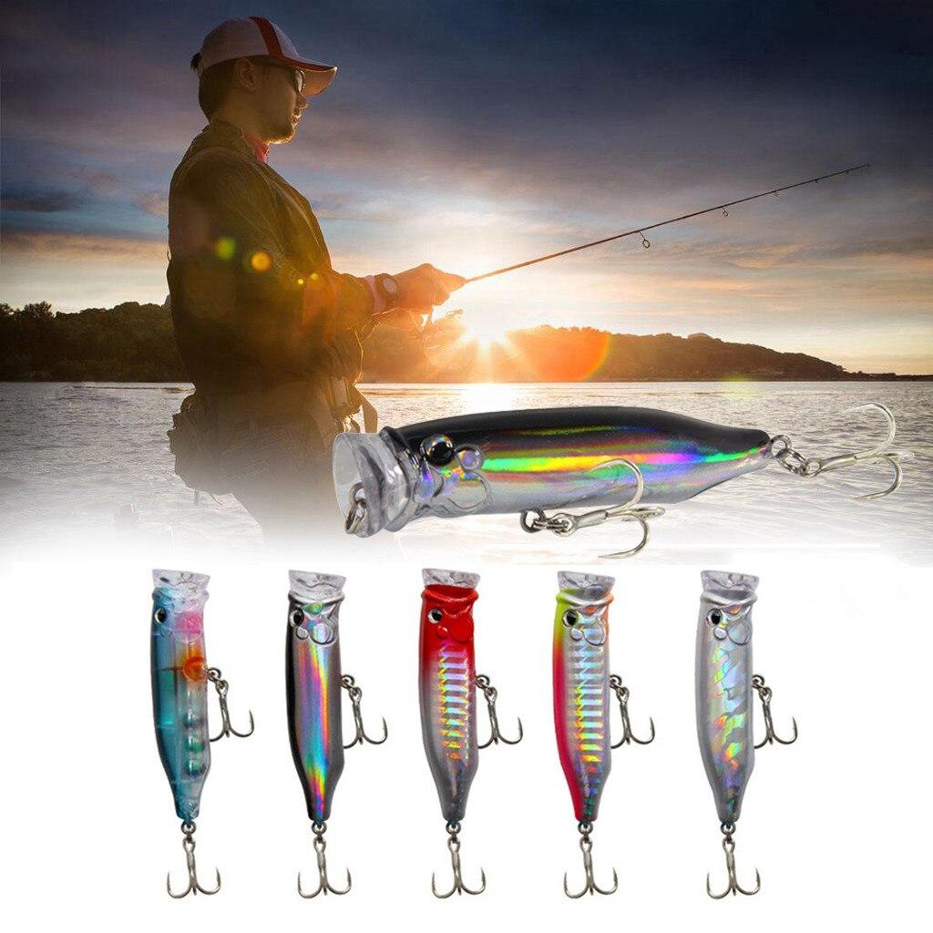 1 Uds Whopper Popper 7CM señuelo de Pesca Topwater cebo Artificial, difícil de cola rotatoria de Pesca Geer Pesca weever pike #10