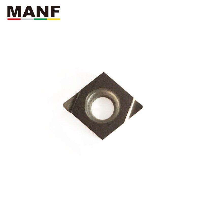مانف تحول أداة كربيد إدراج CCGT040102L-F فهرسة مخرطة إدراج التصنيع باستخدام الحاسب الآلي سيرميت إدراج الداخلية تحول داخل