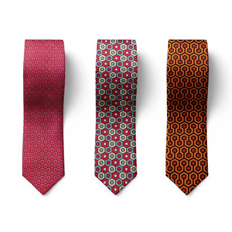 Мужской галстук с шестигранным геометрическим узором, Модный Цветной мужской галстук с сотовой сеткой, аксессуары, Забавный Повседневный г...