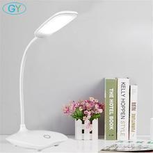 Lampada da scrivania a LED lampada da tavolo Touch dimmerabile pieghevole DC5V lampada da tavolo alimentata tramite USB 6000K lampada da notte touch dimmerabile lampada portatile