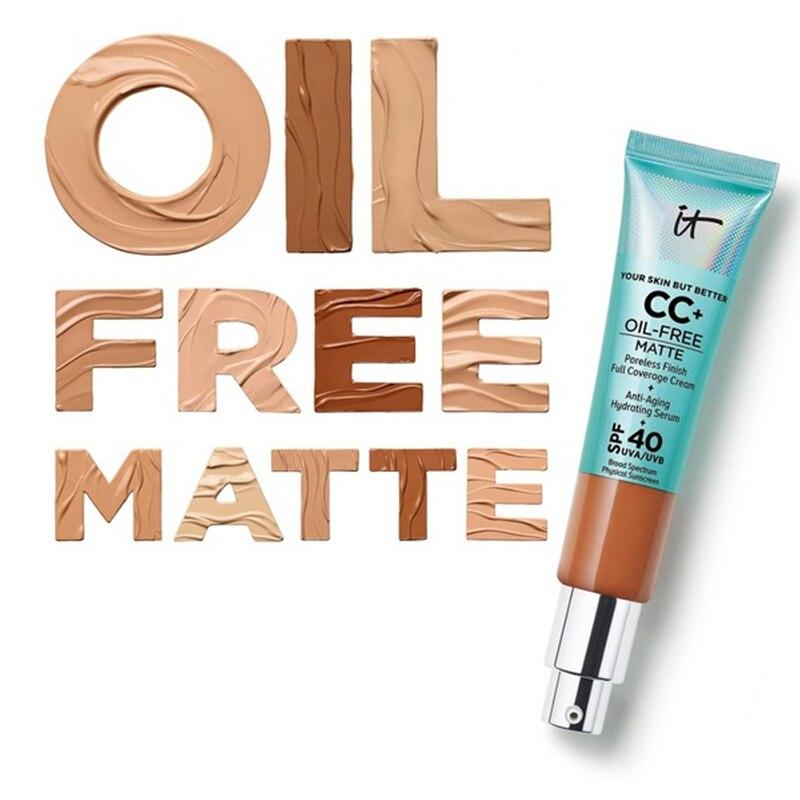 12 قطعة/الوحدة It مستحضرات التجميل ذلك بشرتك ولكن أفضل CC + خالية من النفط ماتي sans huile fini حصيرة المسام تقليل التغطية الكاملة كريم