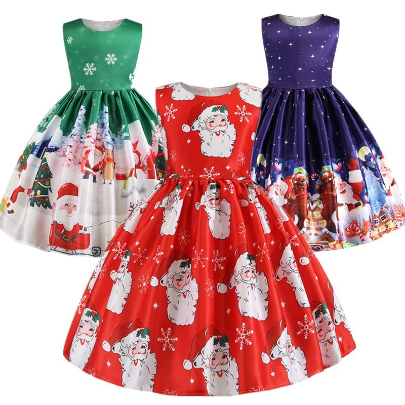 Christmas Dress Kids Girls Halloween Dresses For Girls Princess Dress Baby Girl Party Clothes Teens Costume Dress 2-10 Years