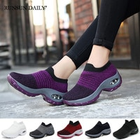 Кроссовки женские прогулочные, легкие дышащие, на толстой подошве, без шнуровки, с воздушной подушкой, Повседневная модная обувь