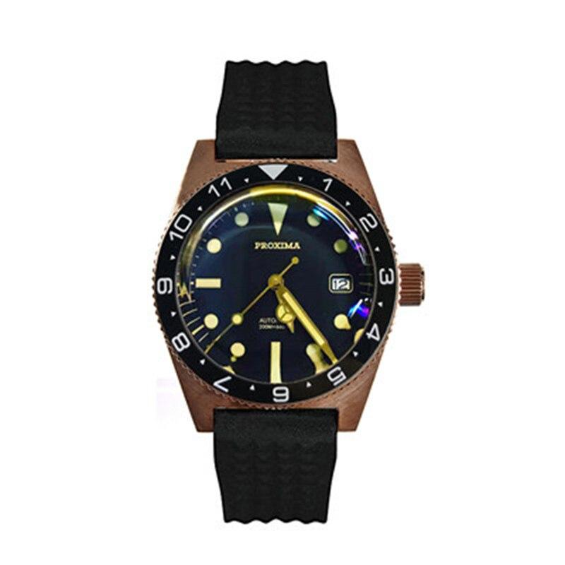 ساعة يد أوتوماتيكية من برونز الياقوت للرجال ، ماركة فاخرة ، GMT ، ساعة غواص ، رياضية ، 2020