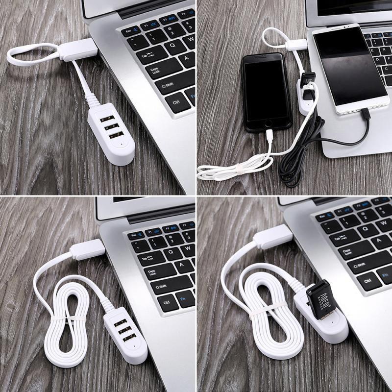 Hub USB personalizado con 3 puertos, divisor de 5V, Cable de extensión...