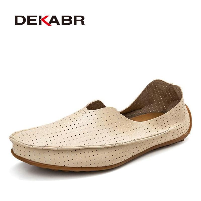 DEKABR-حذاء مسطح من الجلد المقسم للرجال ، حذاء كاجوال عصري عالي الجودة ومسامي ، للزوجين ، صيف 2021