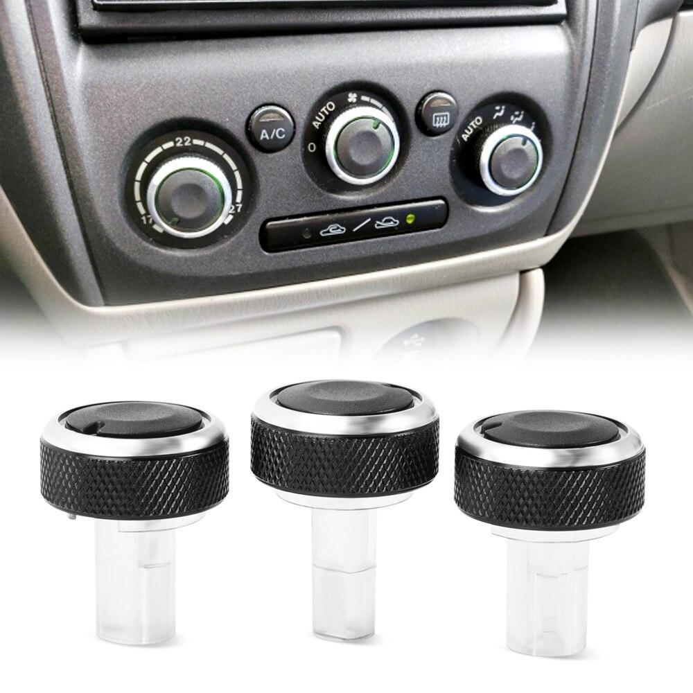 Para Mazda 323 Allegro Familia 626 protege Haima Happin perilla de aire acondicionado de aleación de aluminio AC botón de Control de calor