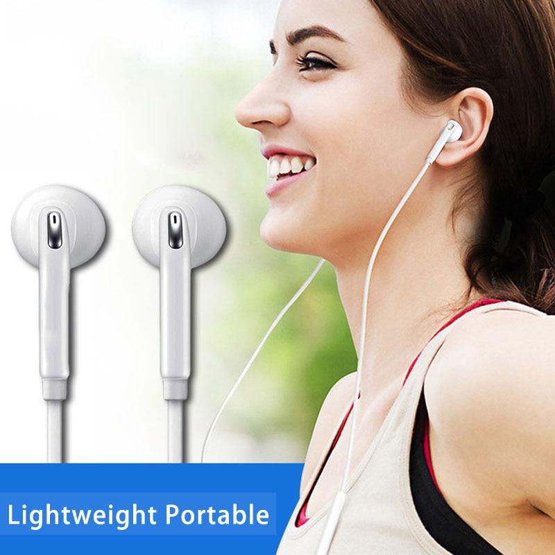 Auriculares con cable de 3,5mm, auriculares estéreo para música, Auriculares deportivos para correr con micrófono, Control de volumen para Samsung S6 Xiaomi Mi9