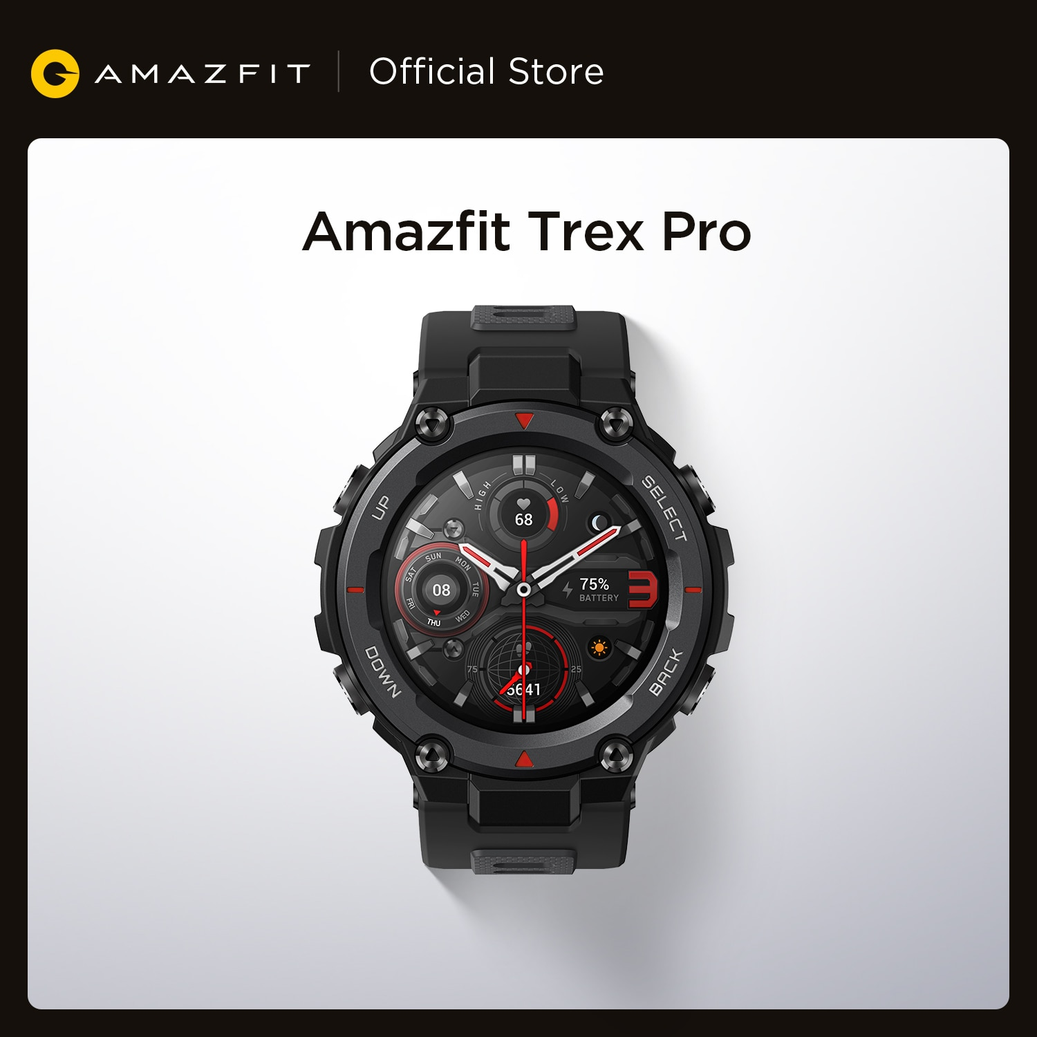 Get Global Version Amazfit Trex Pro GPS Outdoor Smartwatch Waterproof 18-day Battery Life 390mAh Smart Watch For Android iOS Phone