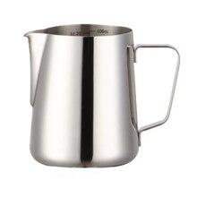 Paslanmaz çelik süt Frothing sürahi mutfak sürahi süt Frothing Barista Craft kahve Latte süt Frothing sürahi 12 Oz (350 ml)