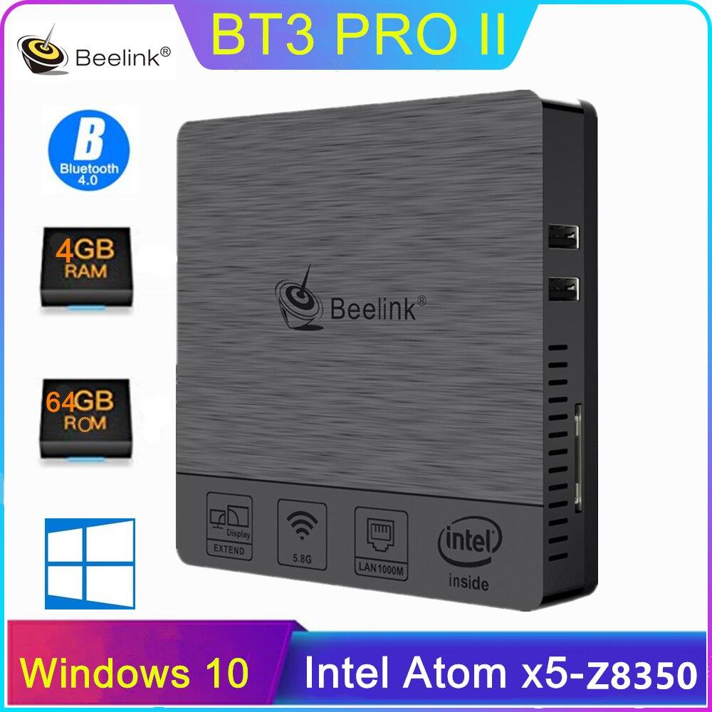 Beelink BT3 Pro II Mini PC x5-Z8350 Quad Core 4GB + 64GB Dual Frequenz 2.4/5,8 GHz wiFi BT 4,0 Smart TV Box Unterstützung Windows 10