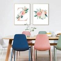 Affiches dart mural avec fleurs roses et talons hauts  peinture sur toile  pour decoration moderne