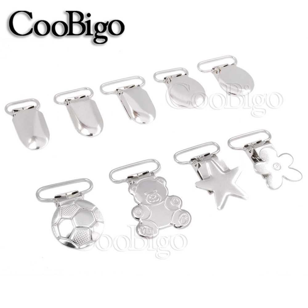 5pcs 9 Style Metal Fasteners Suspender Clip Sliver Belt Buckle For Backpack Belt Garment Dog Collar Bag Parts Accessories