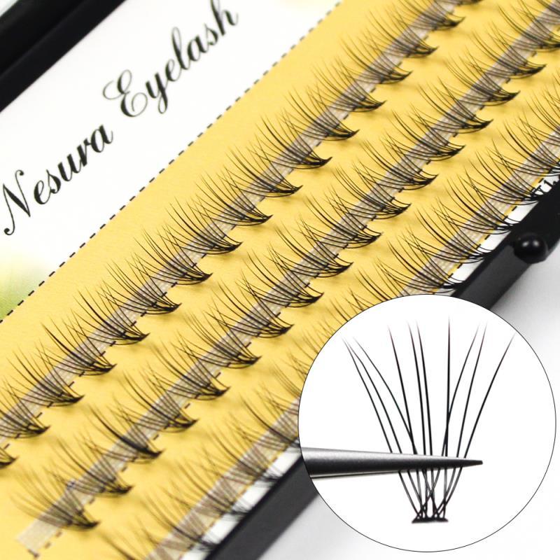 60pcs/Pack Professional Makeup False Eyelashes Clustered Eyelashes Grafting Eyelashes Ladies Eye Makeup Lashes Eyelash Extension недорого