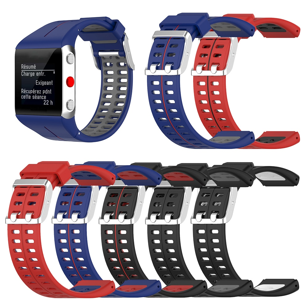 Watch Band Replacement Silicone Outdoor Shopping Wearing Accessories for Polar V800 GPS Smart Bracel