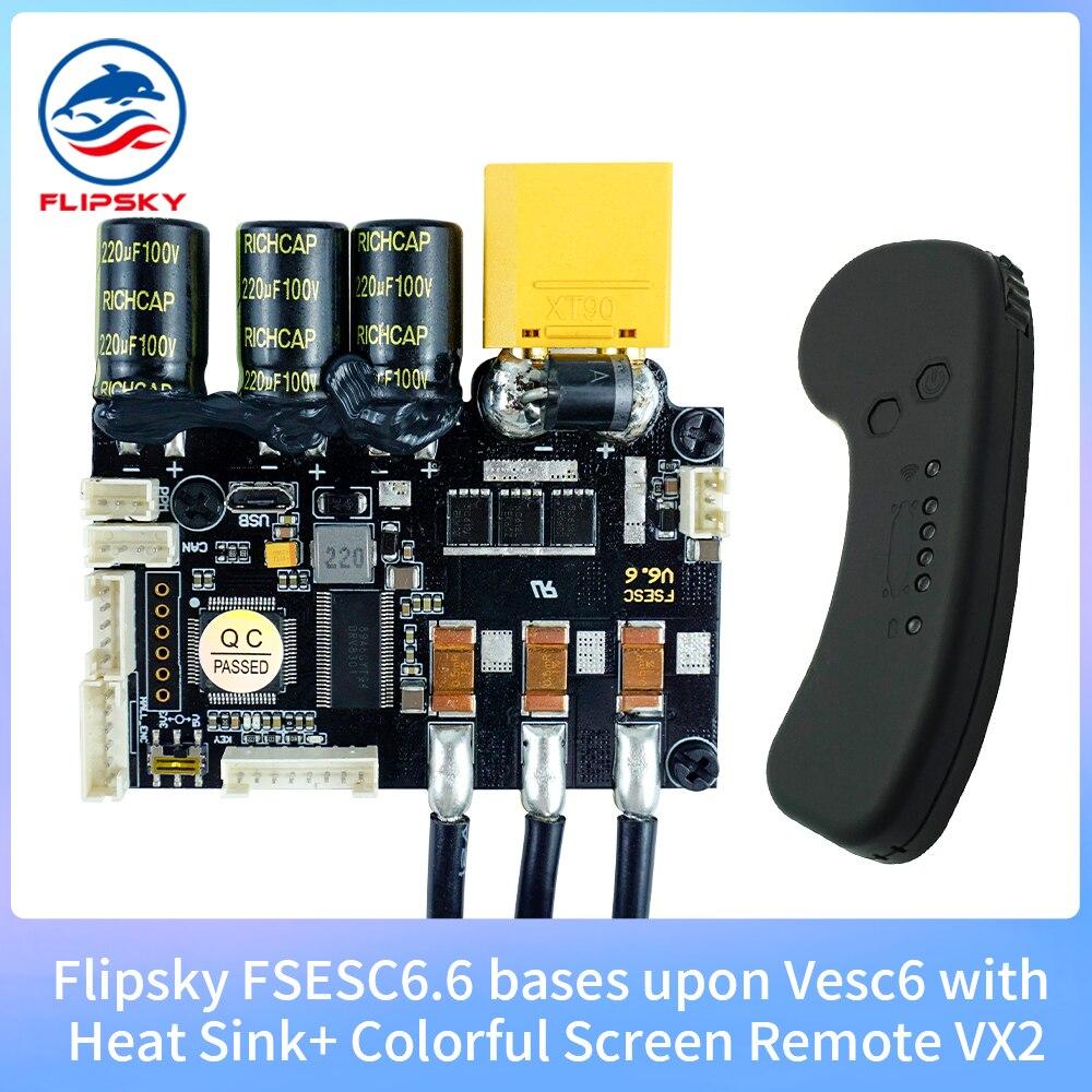Flipsky-FSESC 6,6 basado en VESC®Sink60A con control VX1, 6 con calor, Longboard...