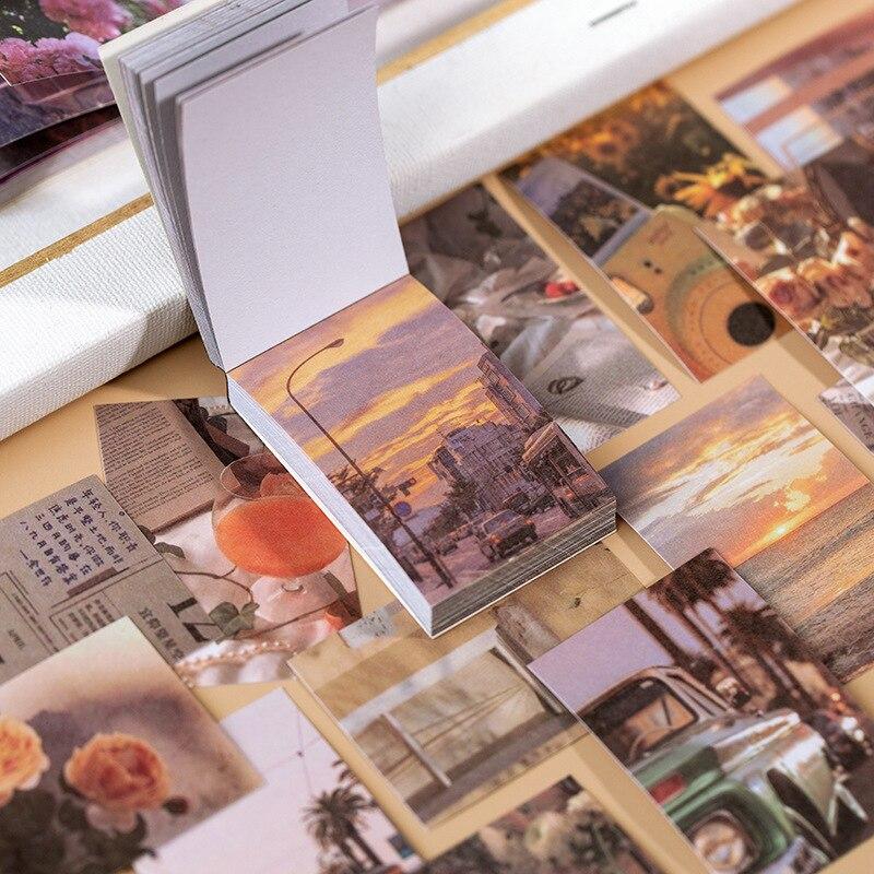 Lote de 50 unidades de pegatinas de Estilo Vintage Ins, pegatinas para diario, pegatinas decorativas