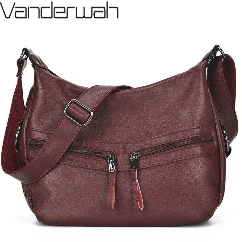 Bolso de mano de lujo para mujer, bolsos cruzados de diseñador para mujer, bolso femenino, bandolera de hombro de cuero suave para mujer, bolso principal