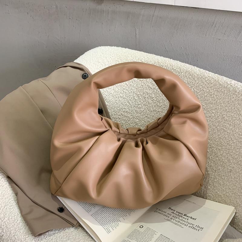 New Shoulder Bags For Women 2021 Tote Handbag De Luxe Femme Folds Fashion Dumplings Totes Soft Roupas Femininas Torebka Clutch