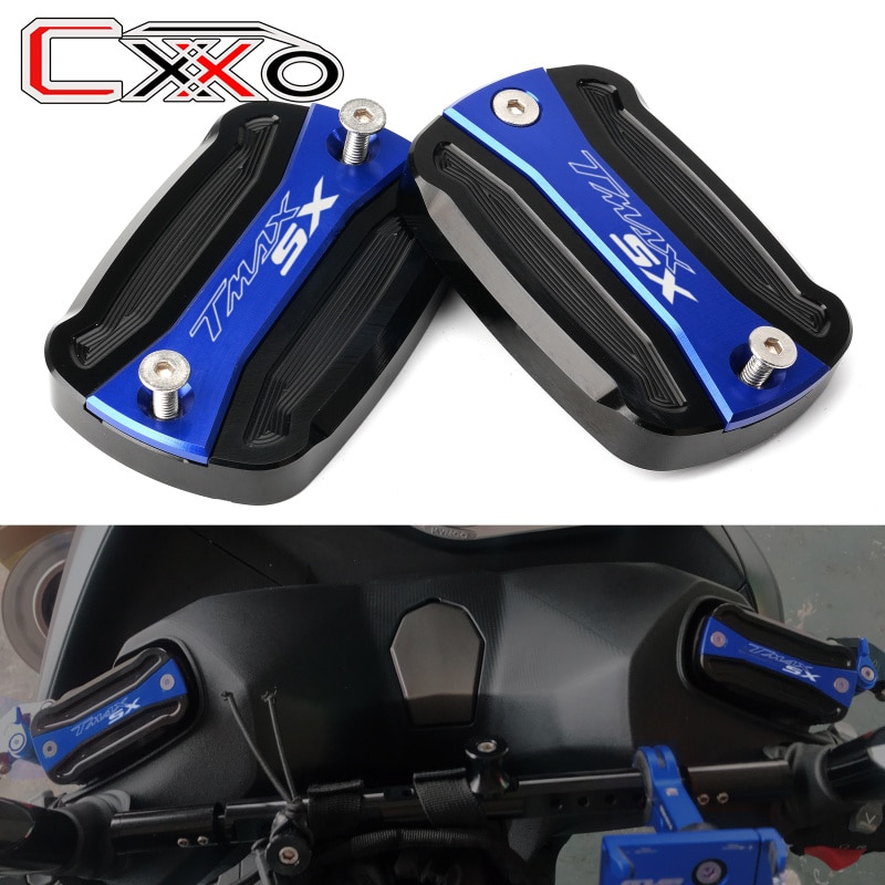 Mit logo SX Für Yamaha T-Max 530 SX DX 2012-2018 2019 TMAX 530 500 Motorrad CNC vorne Brems Flüssigkeit Reservoir Kappe Abdeckung