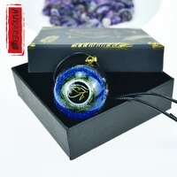 amethyst mens necklace and women horus eye orgonite energy pendant crystal healing resin orgon pendant