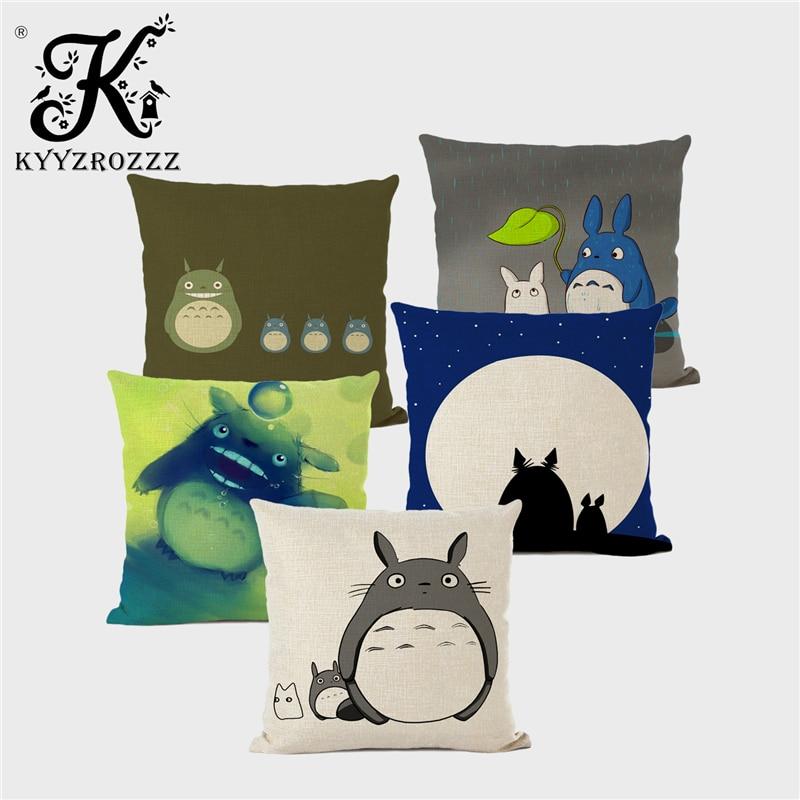 Funda De almohada con dibujo De My Neighbor Totoro, funda De cojín cuadrada De My Neighbor Totoro, funda De almohada para el hogar 45x45