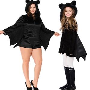 Cosplay Costume Halloween Cosplay Costume Female Black Bat Vampire Womens Export Game Uniform Temptation Halloween Children's