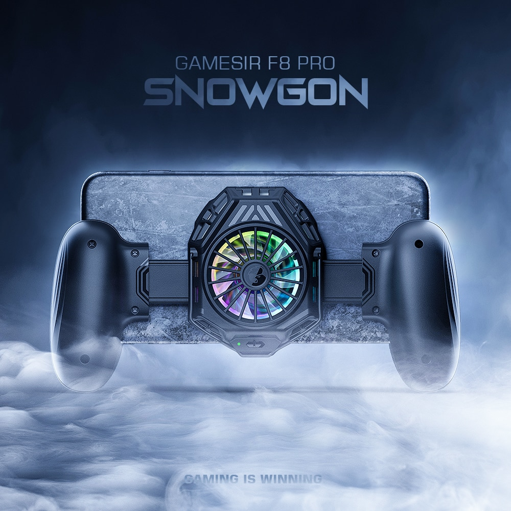 GameSir F8 Pro Snowgon Mobile Cooling Gamepad, Game Controller with Cooling Fan, Smartphone Cooler for Android Phone / iPhone