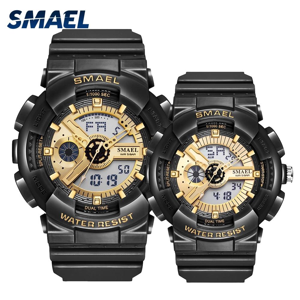 Couple Watches Sports Watch Waterproof 50M Clock Luminous reloj Auto Date Wristwatches Black Gold Watch Women And Men Watches
