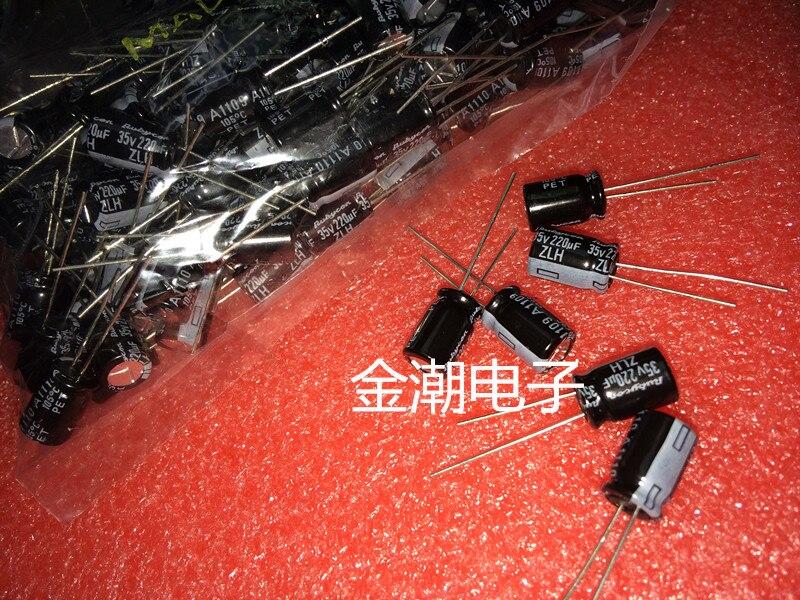 50 Uds nuevo RUBYCON ZLH 35V220UF 8X11.5mm 105 grados 220UF/35V alta frecuencia...