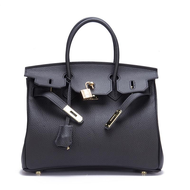 2021 New Women's Bag Genuine Leather Handbags Luxury Lock Designer Shoulder Crossbody Bags Lady Messenger Bag Tote Famous Brands