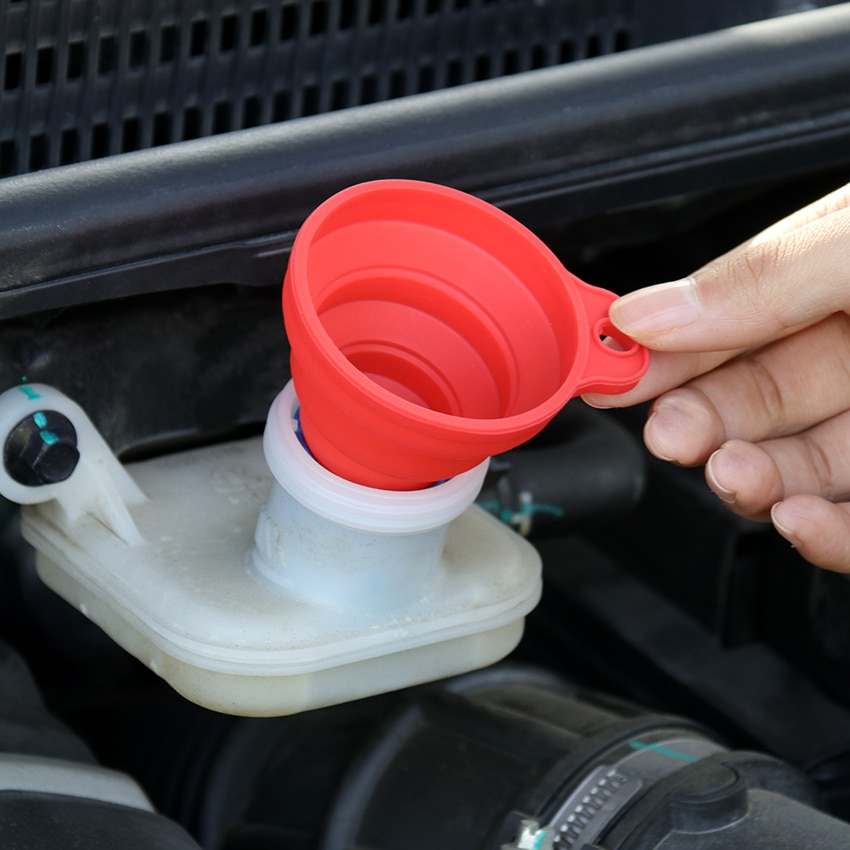 1PC Universal Collapsible Silicone Funnel Car Truck Motorcycle Diesel Gasoline Liquid Washer Fluid Change Fill Transfer Tool
