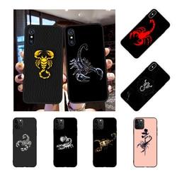 Nbdruicai animal caranguejo escorpião foto feita sob encomenda caso de telefone macio para iphone 11 pro xs max 8 7 6s plus x 5S se xr