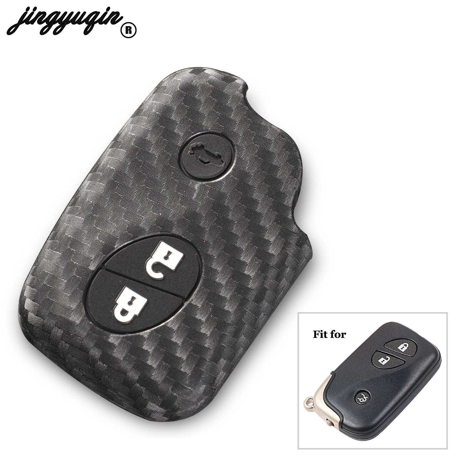 Jingyuqin-funda de fibra de carbono para llave, cubierta embellecedora compatible con Lexus...