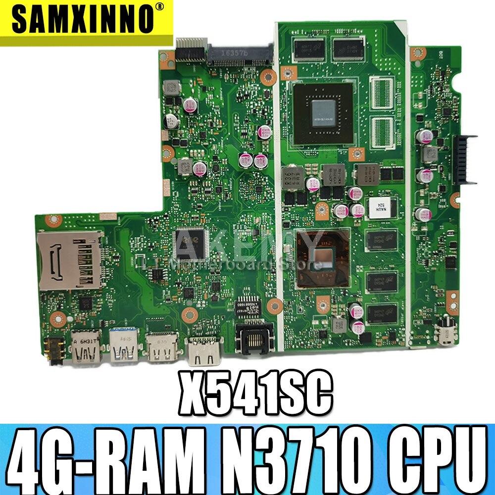 Akemy جديد! لوحة أم للكمبيوتر المحمول X541SC لـ For Asus X541SC X541S D541SC لوحة رئيسية أصلية اختبار 4G-RAM N3710 CPU GT810M GPU