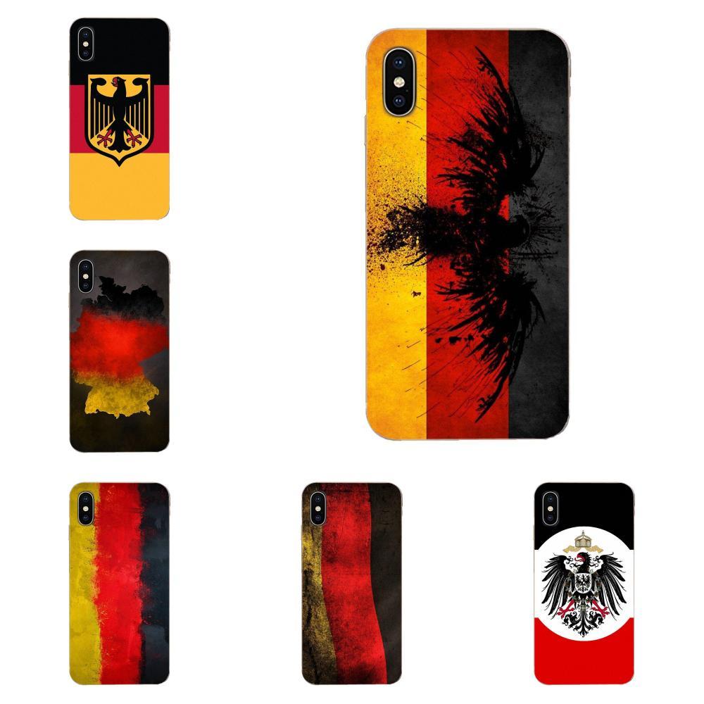 Cubierta de la caja del teléfono de la bandera de Alemania para Apple iPhone 4 4S 5 5C 5S SE SE2 6 6S 7 7 8 11 Plus Pro X XS X Max XR