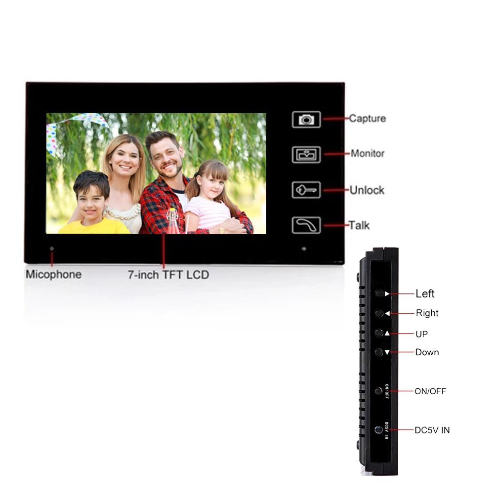 2.4GHz Wireless Digital Video Intercom System Built-in Battery Doorbell with Camera Night Vision Remote Unlock Door Entry Bell enlarge