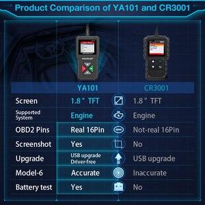 Image 3 - KINGBOLEN YA101 читатель Кода OBDII/EOBD (система бортовой диагностики, YA 101 Авто диагностический инструмент графика данных OBD2 реальные 16Pin DIY сканер CR3001