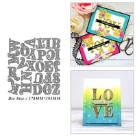hollow english letters metal cutting dies for diy scrapbook album paper card decoration crafts embossing 2021 new dies