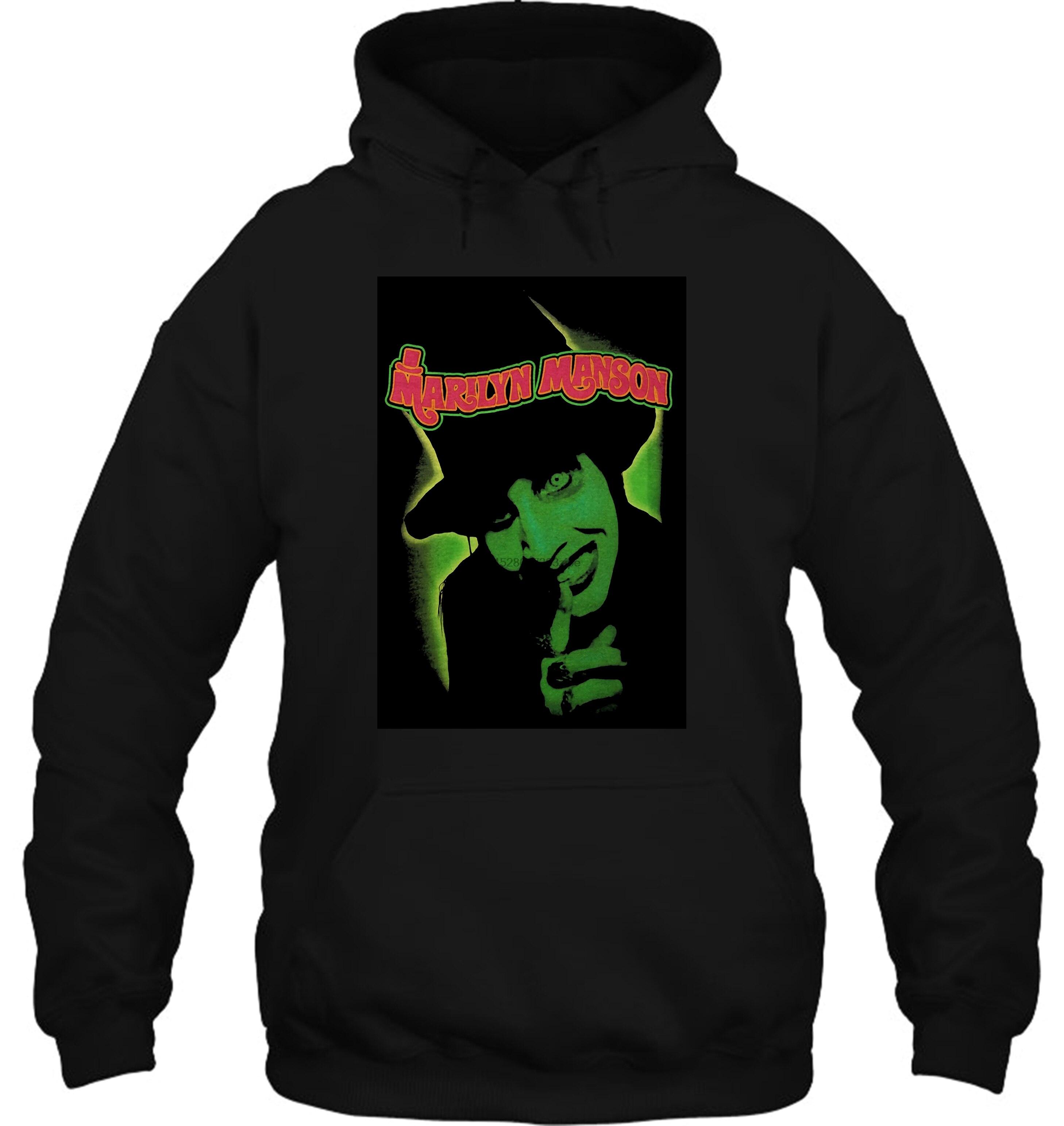 Marilyn Manson hombres y olores como niños negro Tops S ~ 3Xl tamaño grande hombres mujeres Streetwear sudaderas