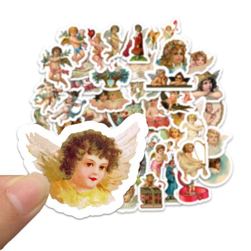 50Pcs Goddess of Love Cupid Handmade Mini Calendar Album Agenda Scrapbook Stickers Stationery Back to School Supplies