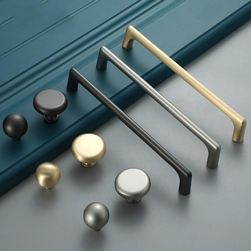 Agujero de distancia 128 perla de aleación de cinc, manija de gabinete dorado gris, tiradores de cajón sólidos, cocina, armario, tiradores de puertas, pomo de manilla de muebles