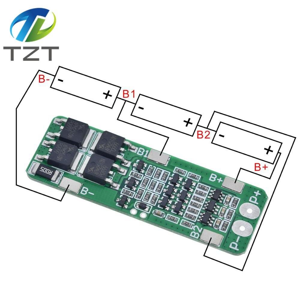 3S 20A Li-ion batería de litio 18650 cargador PCB Placa de protección BMS 12,6 V célula 59x20x3,4mm módulo