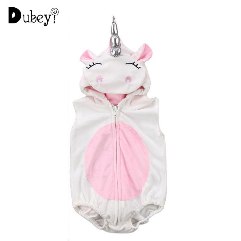Bebé niños niñas Pelele de unicornio mono traje chaleco mono recién nacido 1st cumpleaños de niña y niño traje de Acción de Gracias nuevo nacido traje