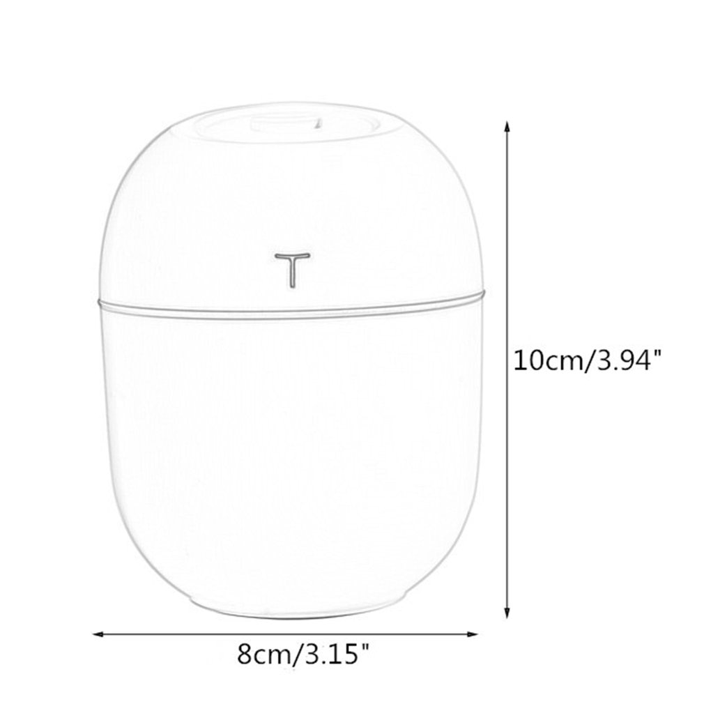 2020 Ultrasonic Mini Air Humidifier 200ML Aroma Essential Oil Diffuser for Home Car USB Fogger Mist Maker with LED Night Lamp
