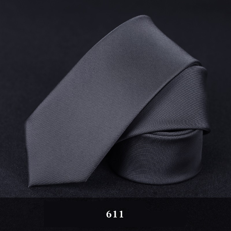 2020 Designer New Fashion 6cm Slim Ties for Men Business Neckties Simple Wedding Party Casual Work Accessories with Gift Box