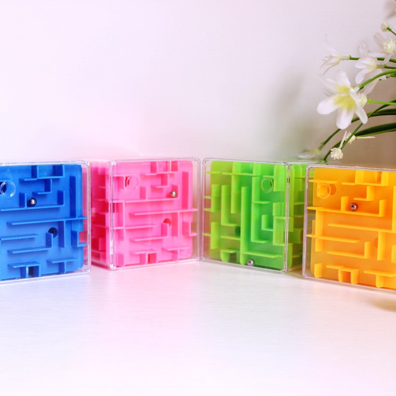 Maze Magic Cube Puzzle Game Labyrinth Ball 3D Cube Fun Brain Game Improve Challenge Educational Toys for Children