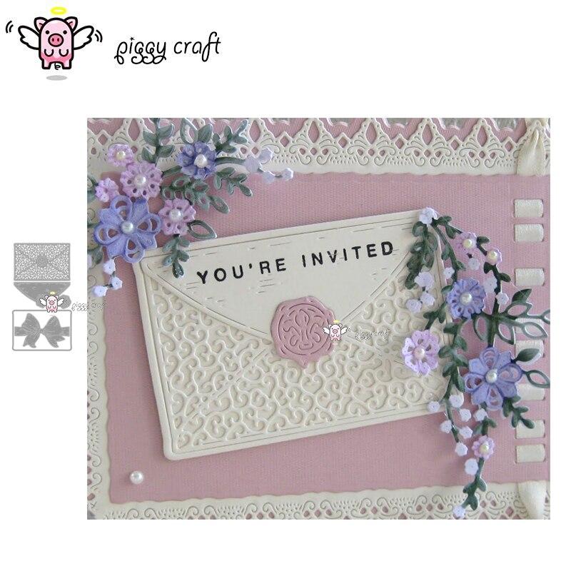 Piggy Craft metal cutting dies cut die mold Bow flower envelope Scrapbook paper craft knife mould blade punch stencils dies