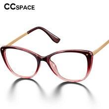 48123 rond Simple en plastique titane lunettes cadres ultra-léger oeil de chat hommes femmes optique mode ordinateur lunettes