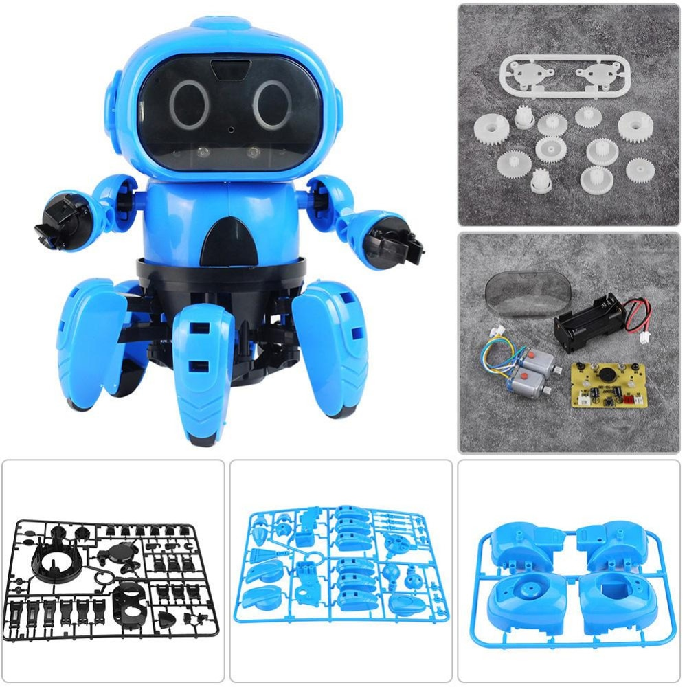 Intelligent Induction Robot DIY Assembled Electric Follow Robot with Gesture Sensor Obstacle Avoidance Kids Educational Toys enlarge